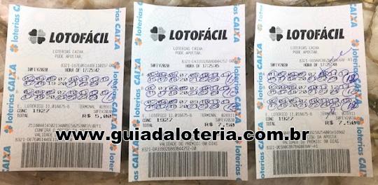 Lotofácil 09/02/20 - R$ 155,00